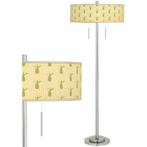 Pineapple Delight Taft Giclee Brushed Nickel Floor Lamp