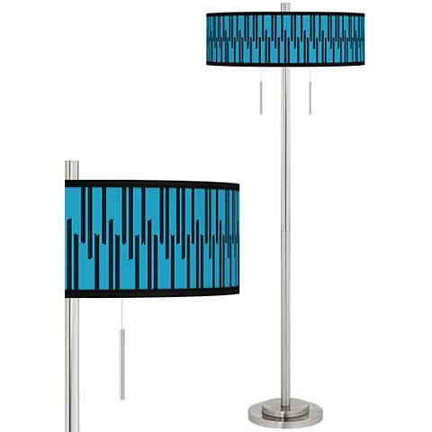 Segments Taft Giclee Brushed Nickel Floor Lamp