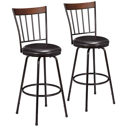 Hillsdale Cantwell Brown Counter Swivel Stool Set of 2