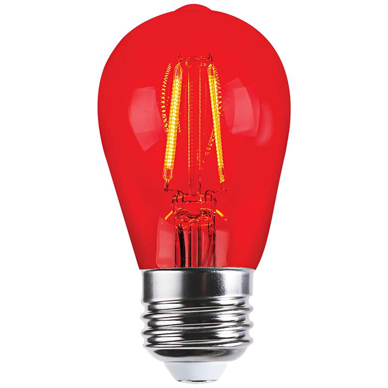 40W Equivalent Tesler Red 4W LED Dimmable Bulb