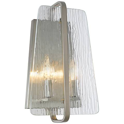 "Artcraft La Traviata 13 1/2"" High Brushed Nickel Wall Sconce"