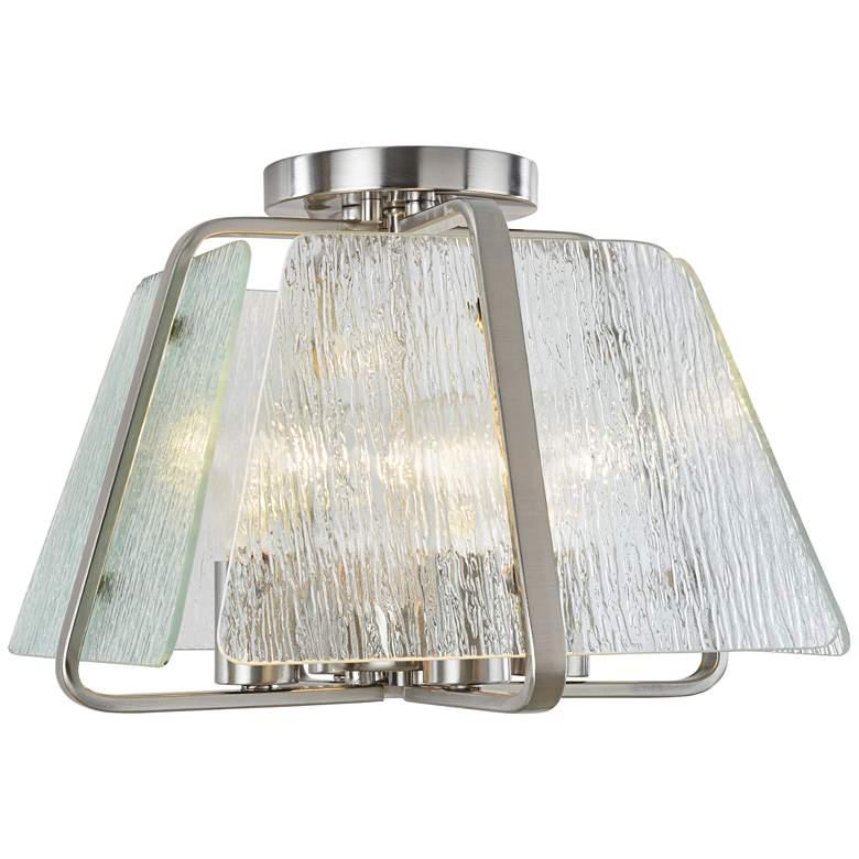 "Artcraft La Traviata 13"" Wide Brushed Nickel Ceiling Light"