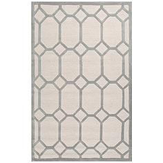 Jaipur Lounge Gray and White 8'x10' Wool Area Rug