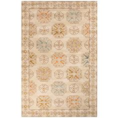 Jaipur Pendant Beige and Gold 9'x13' Wool Area Rug