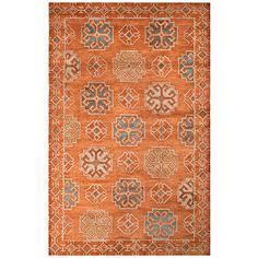 Jaipur Pendant Orange and Blue 8'x11' Wool Area Rug