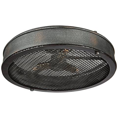 "Artcraft Riverside 16""W Granite Black 3-Light Ceiling Light"