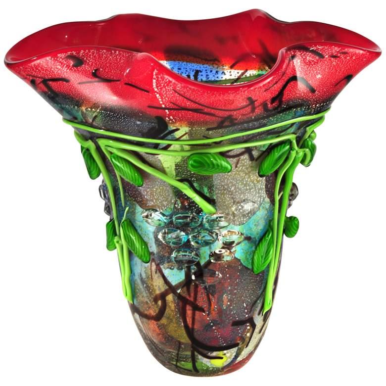 """Dale Tiffany Creeping Jenny Multi-Color 14""""W Art Glass"""