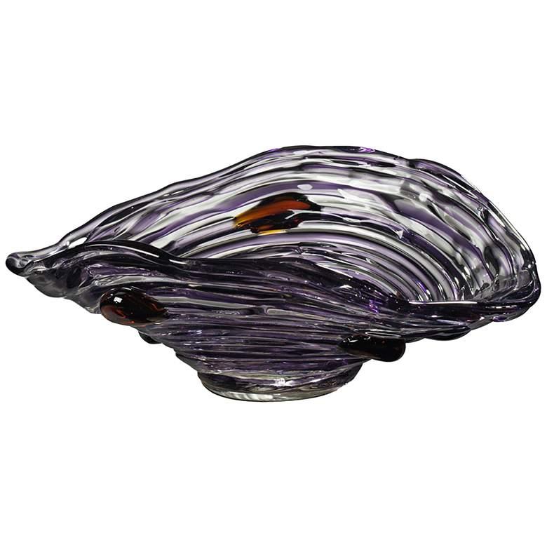 """Dale Tiffany Amethyst 13 1/2"""" Wide Purple Art"""