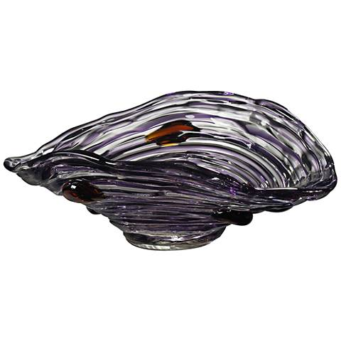 Dale Tiffany Amethyst Multi-Color Art Glass Bowl