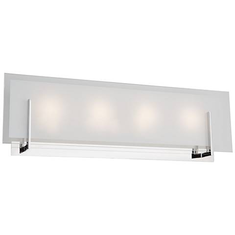 "Artcraft Kingsley 22 3/4"" Wide Chrome 4-Light LED Bath Light"