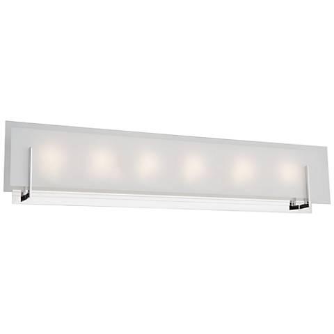 "Artcraft Kingsley 31 1/2"" Wide Chrome 6-Light LED Bath Light"