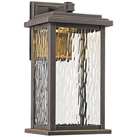 """Artcraft Sussex 13"""" High Bronze LED Outdoor Wall Light"""