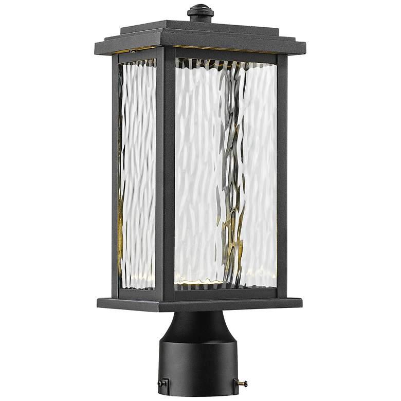 "Artcraft Sussex 13 1/2"" High Black LED Outdoor Post Light"