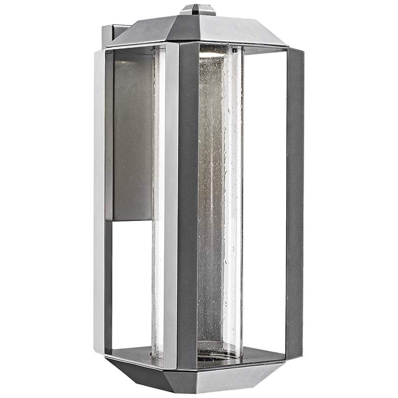 "Artcraft Wexford 17"" High Silver Leaf LED Outdoor Wall Light"