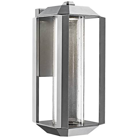 "Artcraft Wexford 17"" High Silver Leaf LED Outdoor Wall Light"