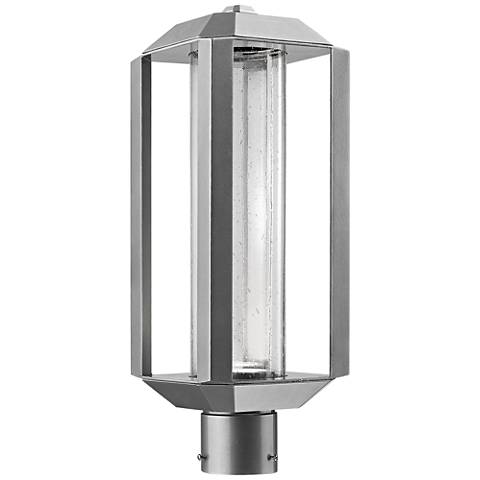 "Artcraft Wexford 19 3/4""H Silver Leaf LED Outdoor Post Light"