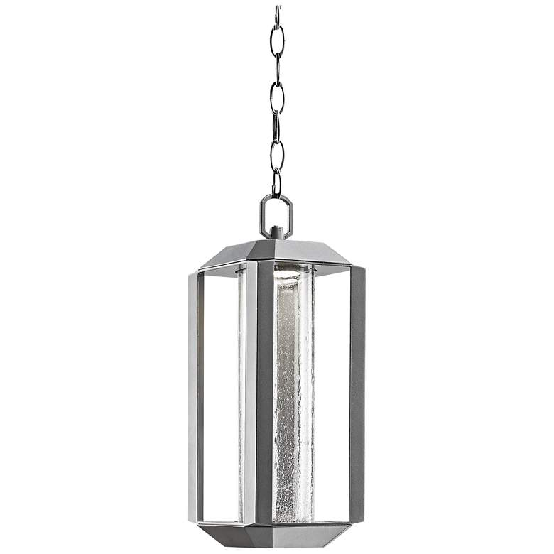 """Artcraft Wexford 15""""H Silver LED Outdoor Hanging Light"""