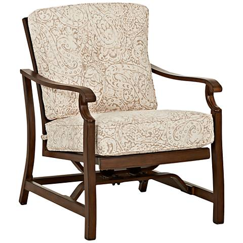 Trisha Yearwood Beige Fabric Coffee Outdoor Motion Armchair