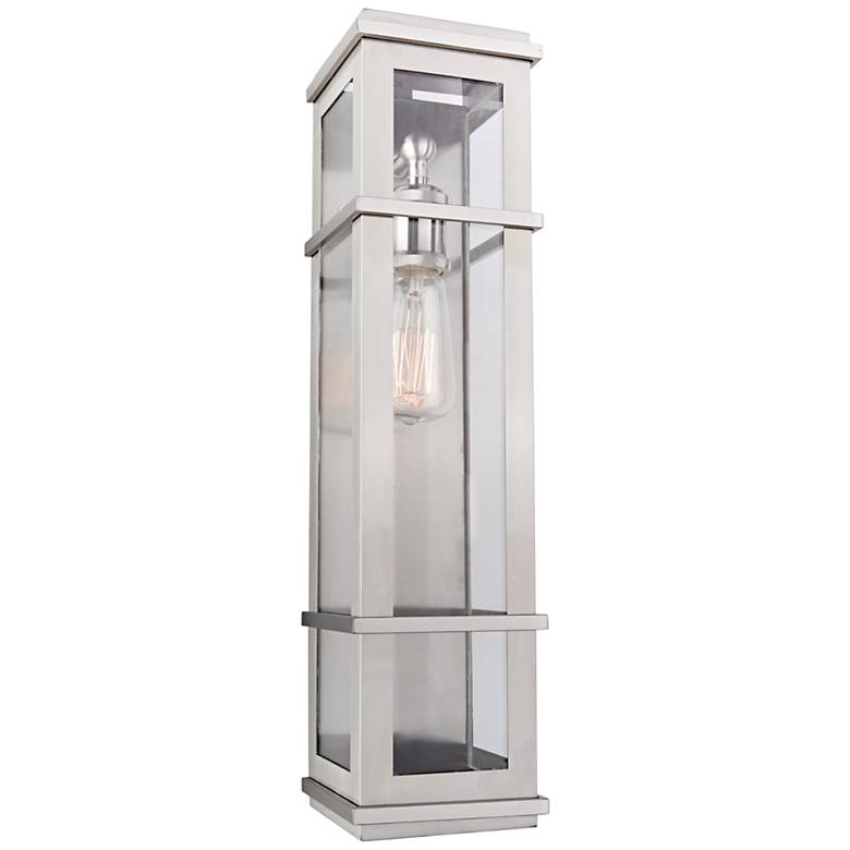 """Granger Square 20"""" High Stainless Steel Outdoor Wall Light"""