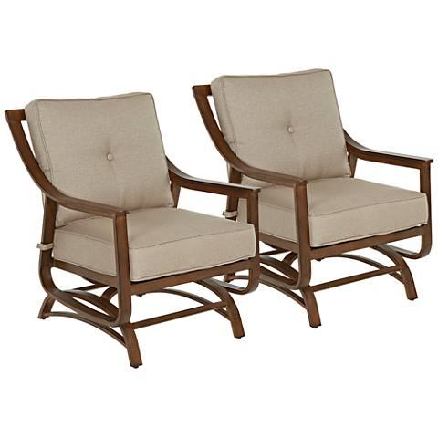 Trisha Yearwood Beige Outdoor Rocker Chair Set of 2