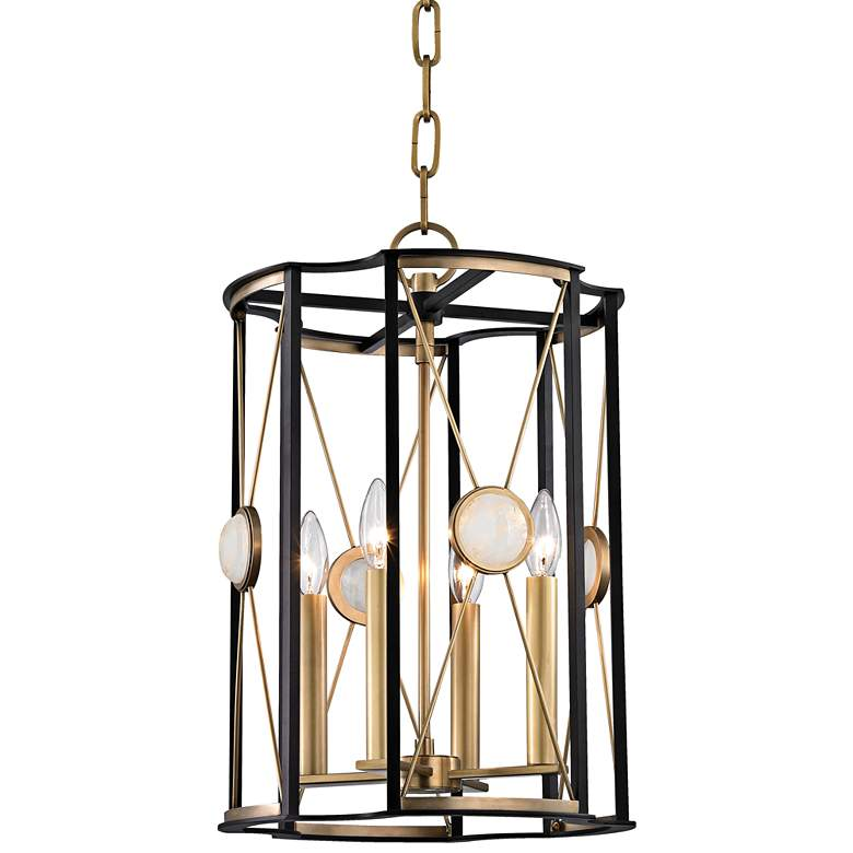 "Hudson Valley Cresson 13 1/2""W Aged Brass Pendant Light"
