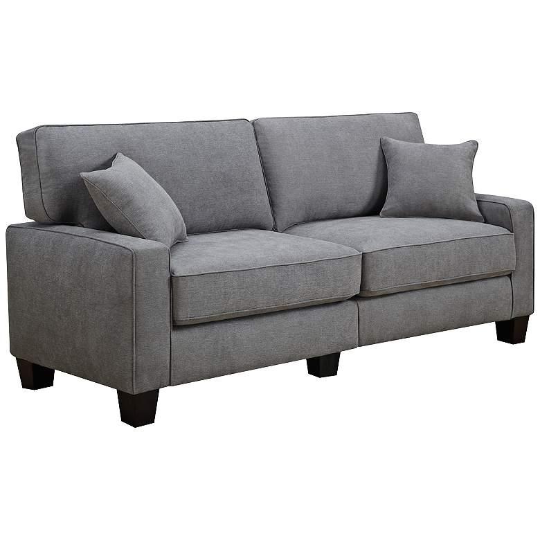 "Serta RTA Martinique 78"" Wide Kona Gray Fabric Sofa"