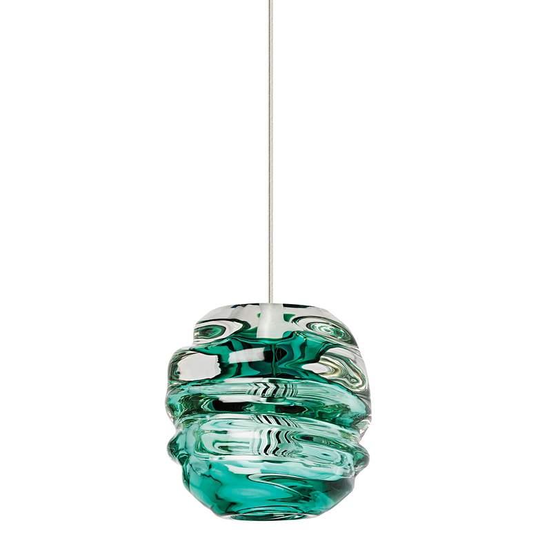 "Tech Lighting Audra 5 1/2"" Wide Green Glass Mini Pendant"
