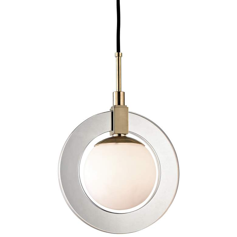 """Hudson Valley Caswell 12"""" Wide Aged Brass LED Mini Pendant"""