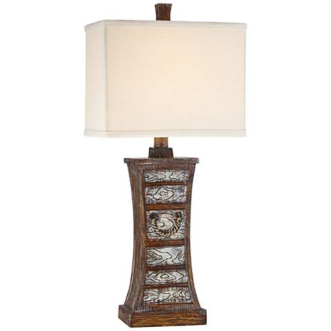 Southhold Faux Wood Table Lamp by Regency Hill