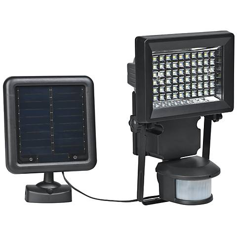 Dezzi Black Outdoor Solar LED Motion Security Wall Light