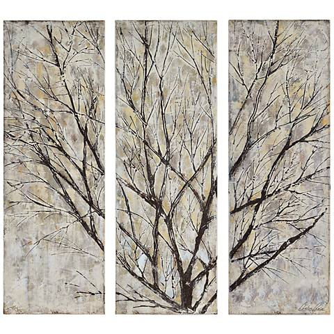 "Spring Creek 13 3/4""x39 1/2"" 3-Piece Triptych Wall Art"