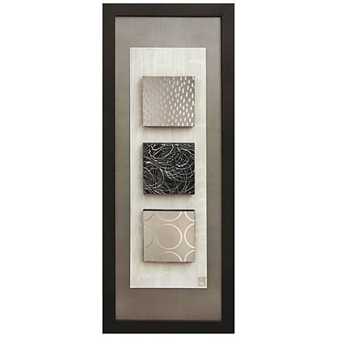 "Reflections I 16""x40"" Framed Wall Art"