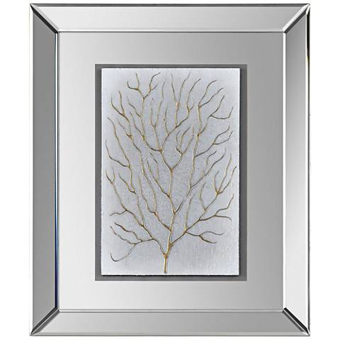 "Branching Out I 20""x24"" Framed Mirrored Wall Art"