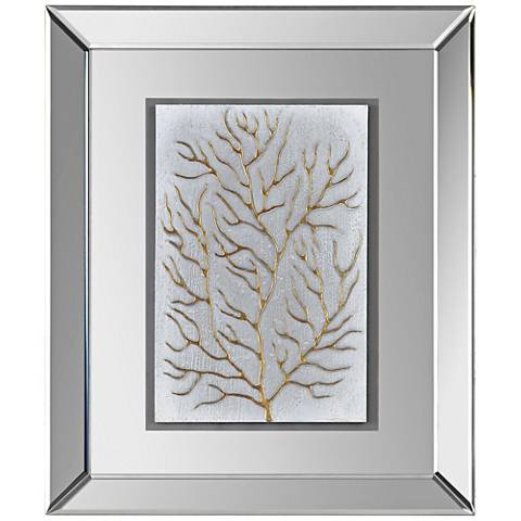 "Branching Out II 20""x24"" Framed Mirrored Wall Art"