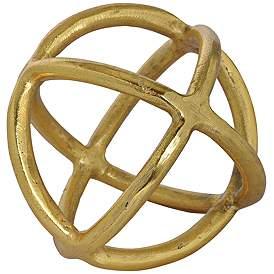 Azimuth Gold Statue 6 Round Metal Decorative Ball