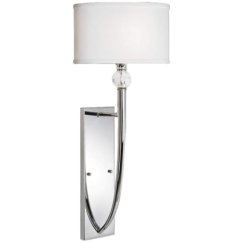 """Uttermost Vanalen 13"""" Wide Polished Chrome Wall Sconce"""