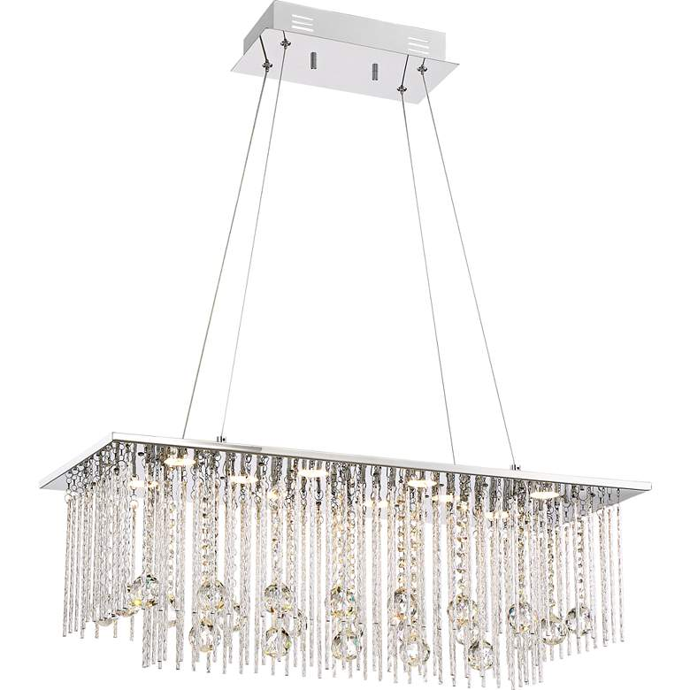 "Boyne 29 3/4"" Wide Chrome LED Kitchen Island Light Pendant"