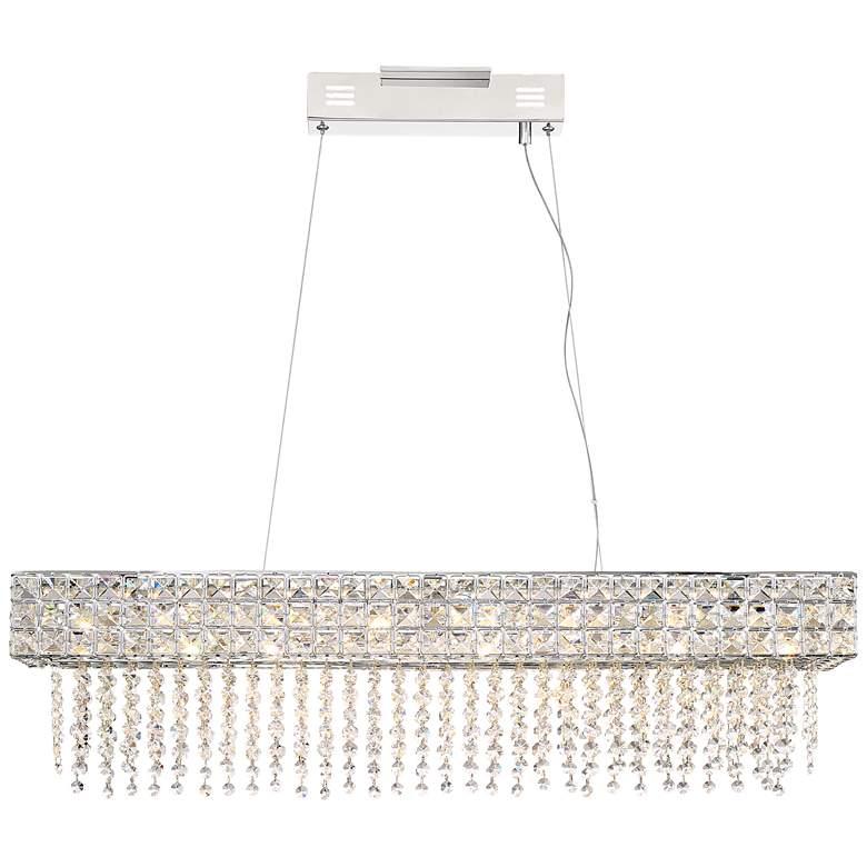 "Marais 36"" Wide Crystal LED Kitchen Island Light Pendant"