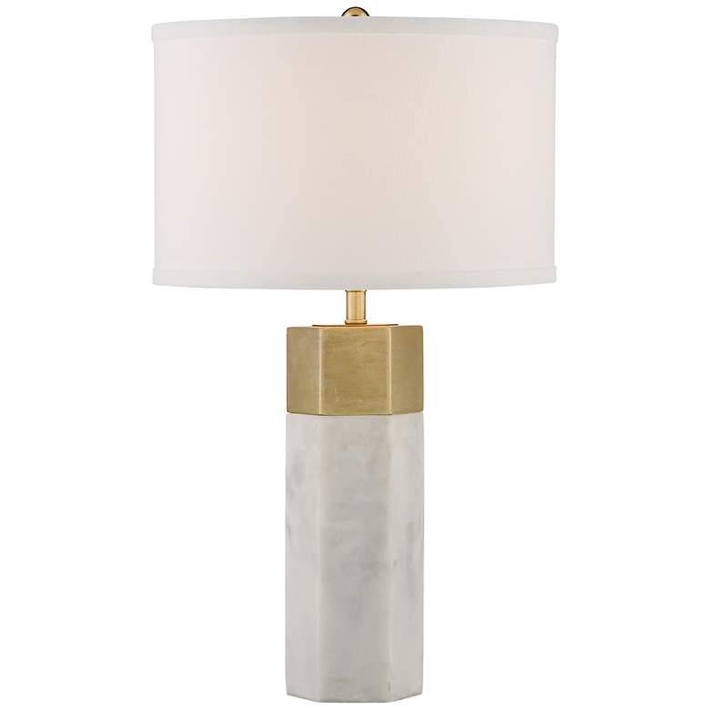 Possini Euro Leala Faux Marble Table Lamp