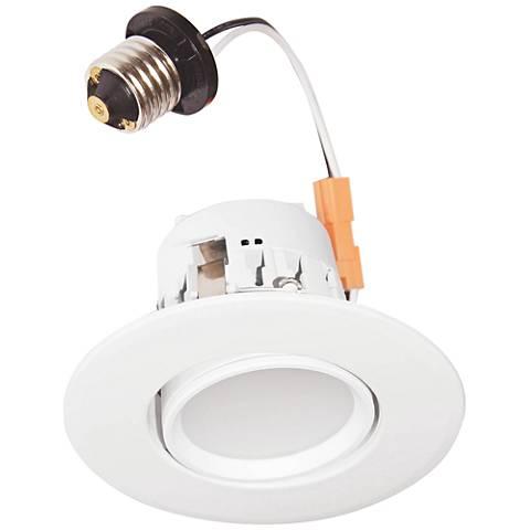 "4"" T24 Compliant White Gimbal 10 W LED Retrofit Trim"