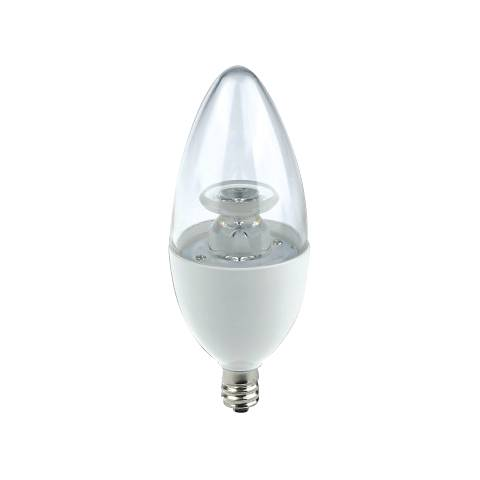 60 Watt Equivalent EcoStar Clear 7W LED Dimmable Candelabra
