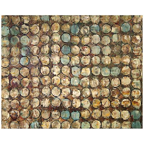 "Gemstone 40"" Wide Abstract Canvas Wall Art"