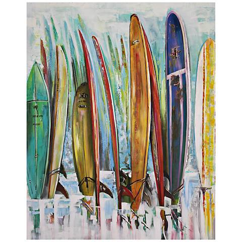 "South Laguna 40"" High Abstract Canvas Wall Art"