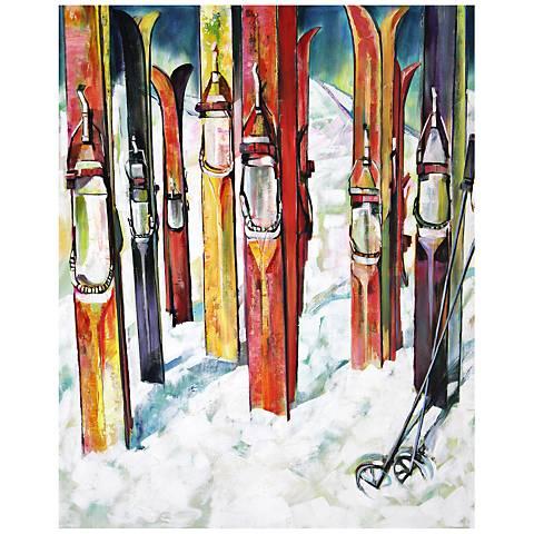 "Alpine 40"" High Abstract Canvas Wall Art"