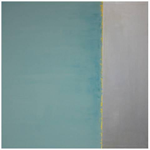 "Chroma I 35"" Square Contemporary Canvas Wall Art"