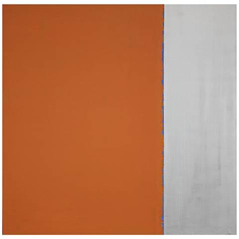 "Chroma III 35"" Square Contemporary Canvas Wall Art"