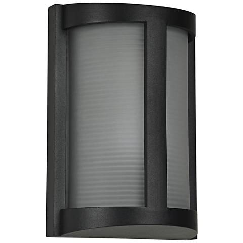 "Pier 9 3/4"" High Black LED Outdoor Wall Light"