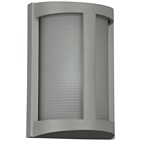 "Pier 9 3/4"" High Satin LED Outdoor Wall Light"
