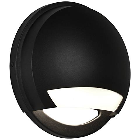 "Avante 8 1/2"" High Black LED Outdoor Wall Light"