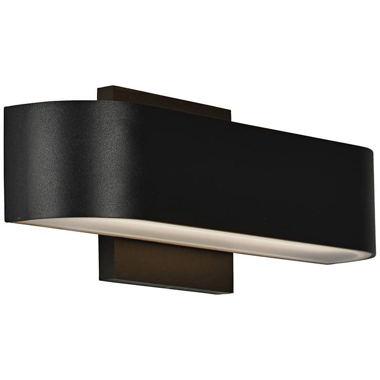 "Montreal 2 1/2"" High Black 2-Light LED Outdoor Wall Light"
